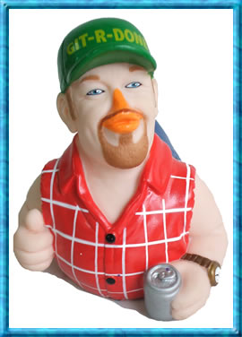Larry the Cable Guy Rubber Duck Collectible - Unique Promotional Gift Too!