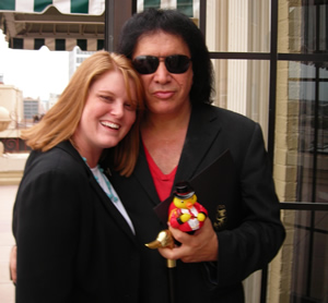 Gene Simmons and his CelebriDuck - Custom Rubber Duck Collectible